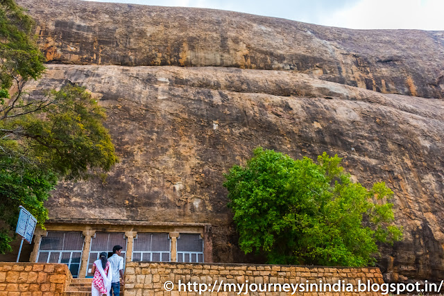 Sithanavasal cave paintings and bedrock