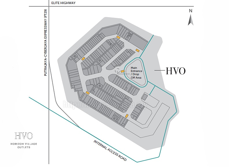 Layout of Horizon Village Outlets Malaysia