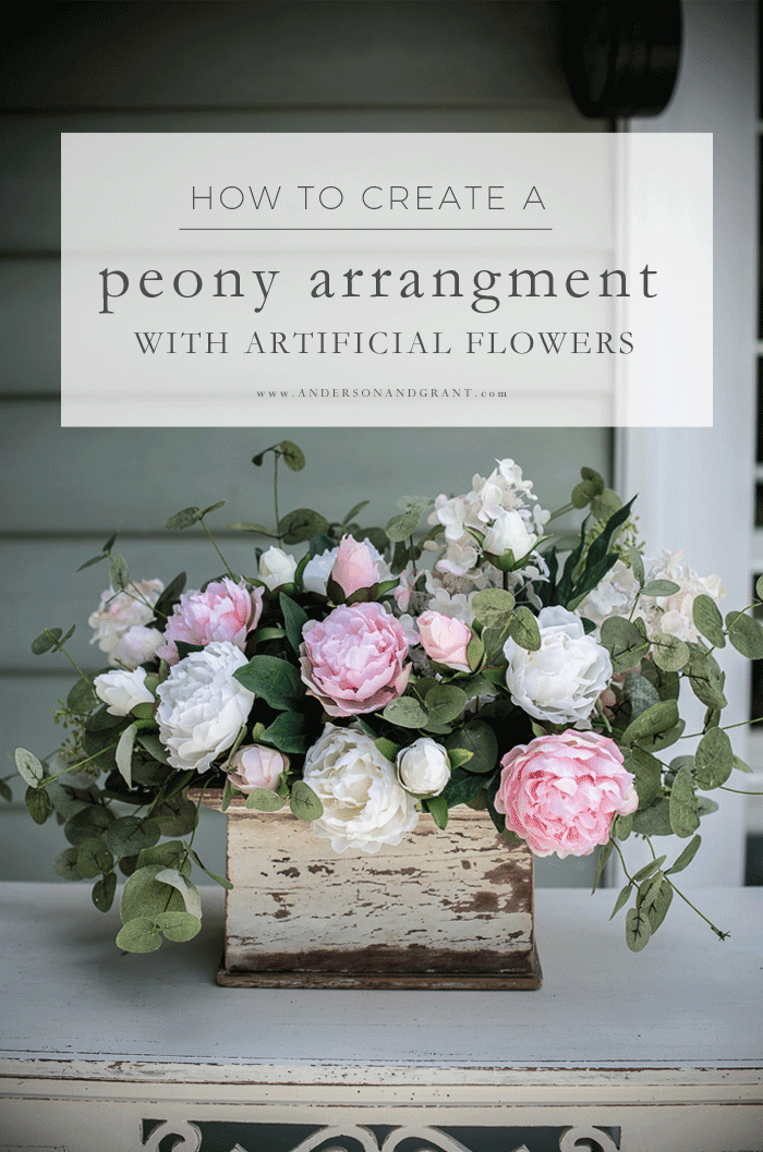 How to create a peony arrangement with artificial flowers
