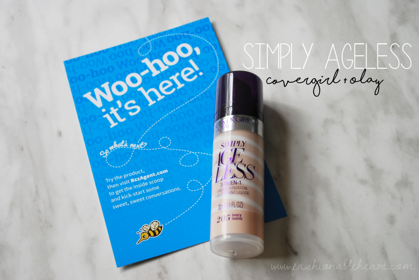 bbloggers, bbloggersca, beauty blogger, covergirl, olay, simply ageless, liquid foundation, swatch, review, drugstore, shade 205, ivory