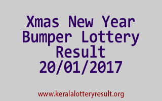 Xmas New Year Bumper BR 53 Lottery Result 20-01-2017