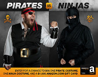 Pirates vs. Ninjas Sweepstakes - Free $1000 Gift Card