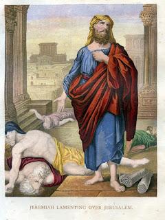 Jeremiah lamenting over Jerusalem