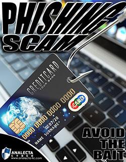 Phishing scam avoid the bait poster