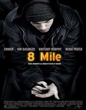 Poster Of 8 Mile In Dual Audio Hindi English 300MB Compressed Small Size Pc Movie Free Download Only At worldfree4u.com