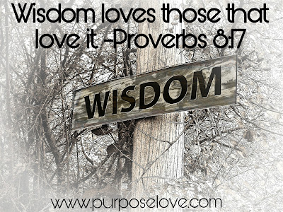 Wisdom Loves Those That Love It. Proverbs 8:17
