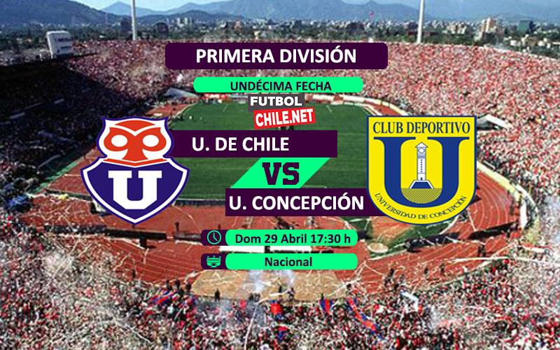 Mira Universidad de Chile vs Universidad de Concepción desde las 17:30 por la Primera División