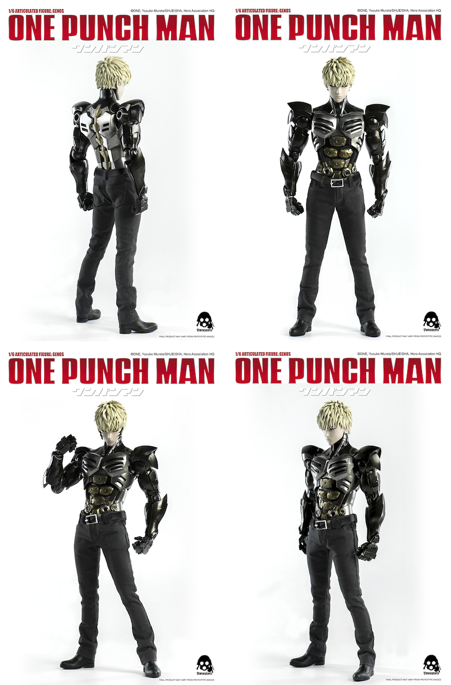 e169826891f Pre-Order Begins Today for ONE-PUNCH MAN 1 6 GENOS from Threezero!