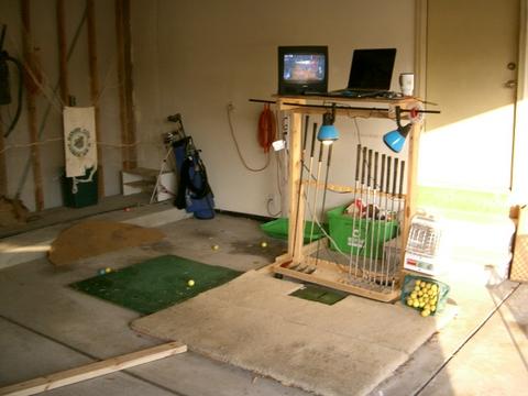 Optishot Golf Simulator Garage Set Up Optishot Golf Simulator Detail Information