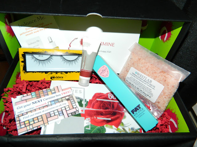January 2012 Carmine box contents