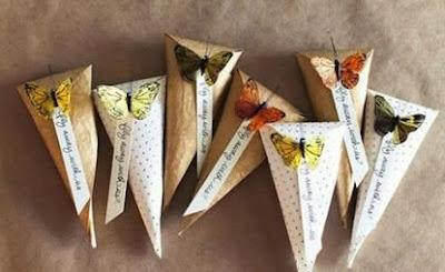 coni farfalle per matrimonio natural chic