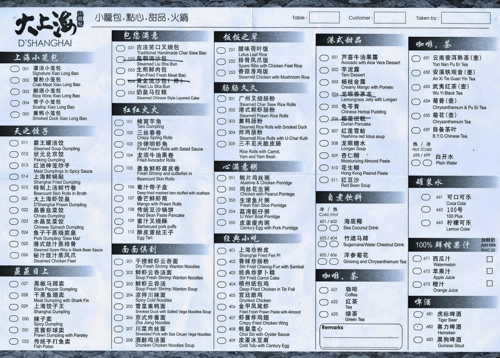 List Of Dim Sum Food