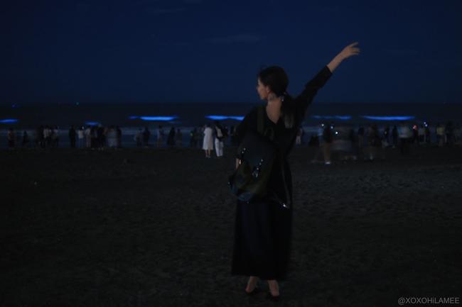 鎌倉、由比ガ浜、夜光虫 2017年5月6日