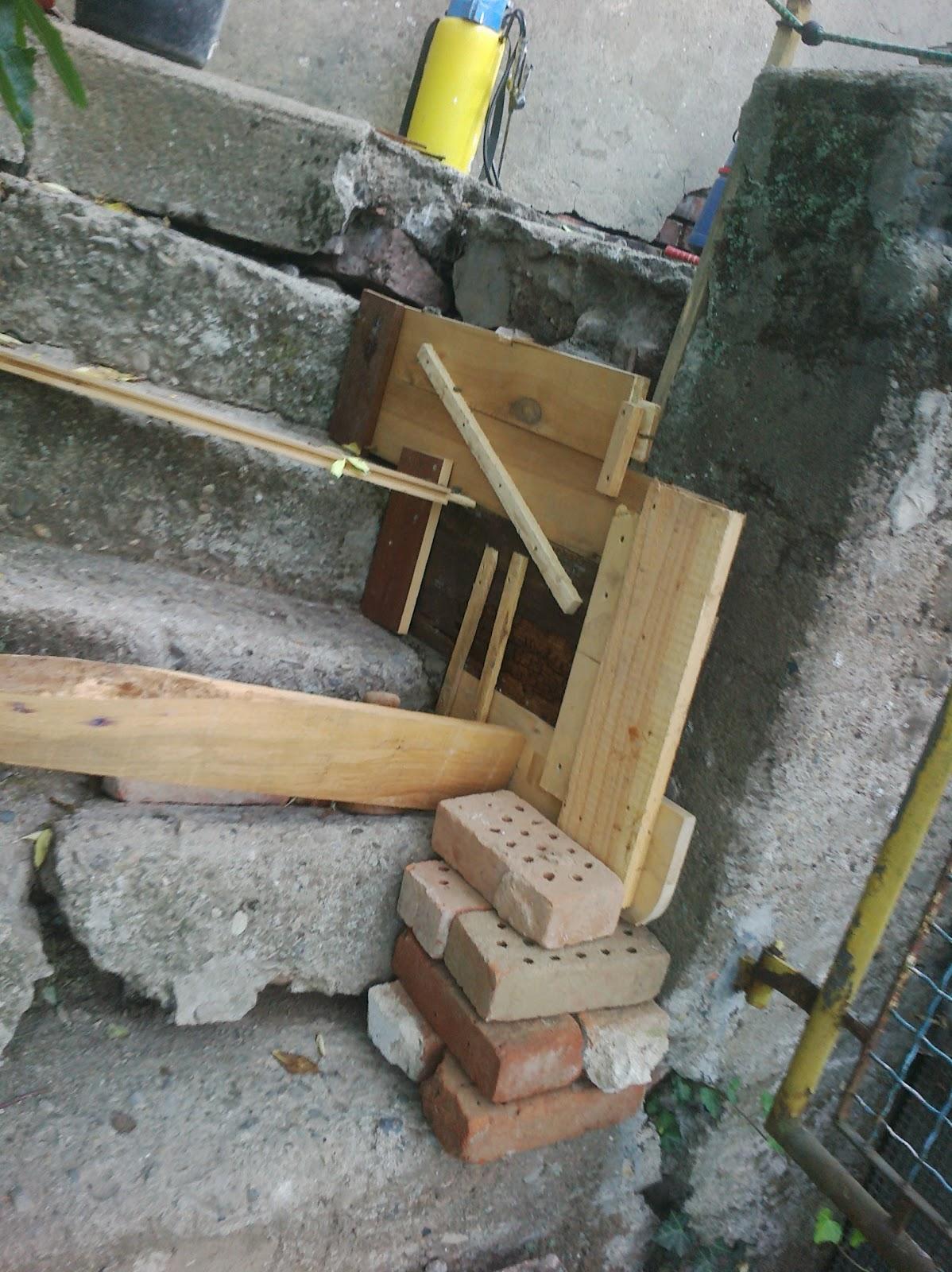 karl erwin und die frau ein haus wird gl cklich sanierung treppe au en spa mit beton teil 2. Black Bedroom Furniture Sets. Home Design Ideas