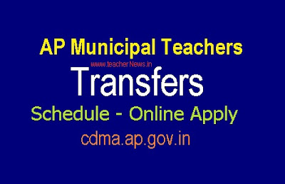 Phase 2 Municipal Teachers Transfers Schedule - Online Apply @ cdma.ap.gov.in