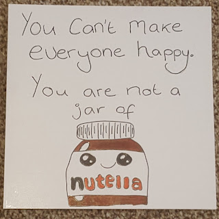 Nutella Card LDS Young Women Gift Idea