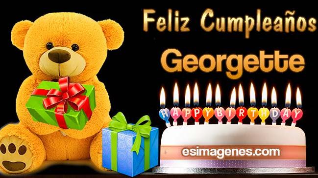 Feliz Cumpleaños Georgette