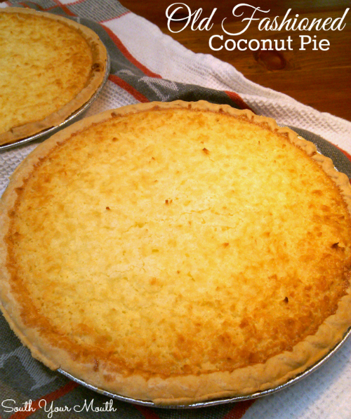 Old Fashioned Coconut Pie - a classic custard pie with coconut