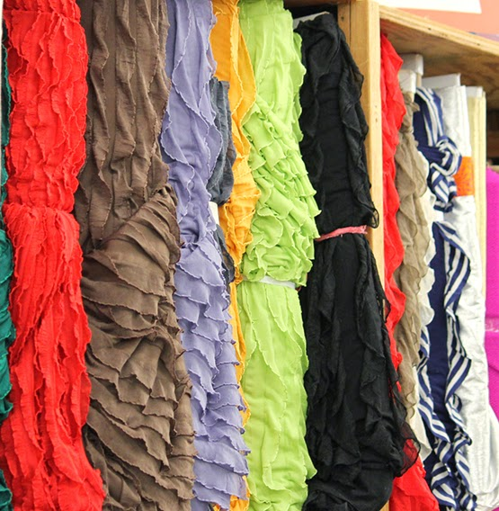 Ruffle Fabric available at Ben Franklin Crafts in Monroe, WA