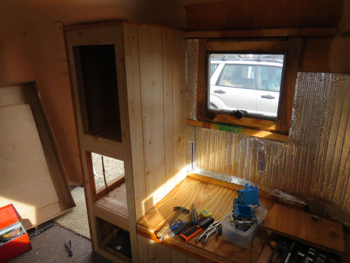 small trailer interior gutted