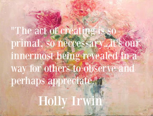 Holly Irwin floral painting and quote