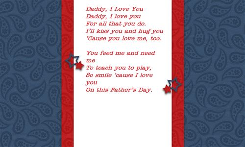 Top Father's Day Poems For Preschoolers