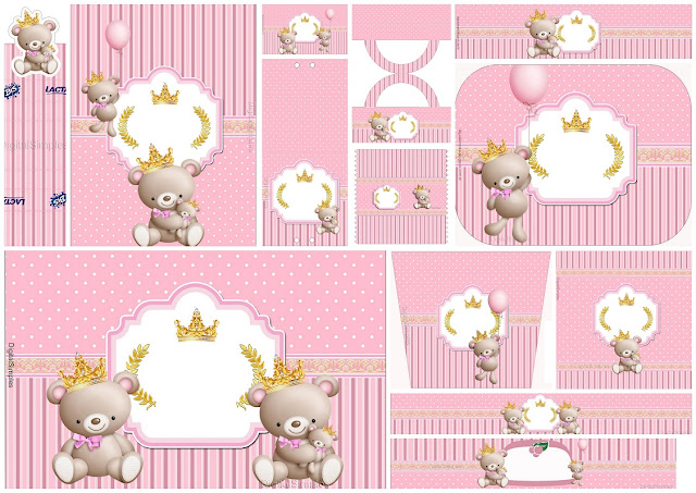 Princes Teddy Bear: Free Printable Candy Bar Labels.