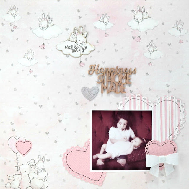 Happiness is Homemade Baby Layout by Dana Tatar for FabScraps