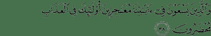 Surat Saba' Ayat 38