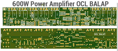 600W Power Amplifier OCL BALAP