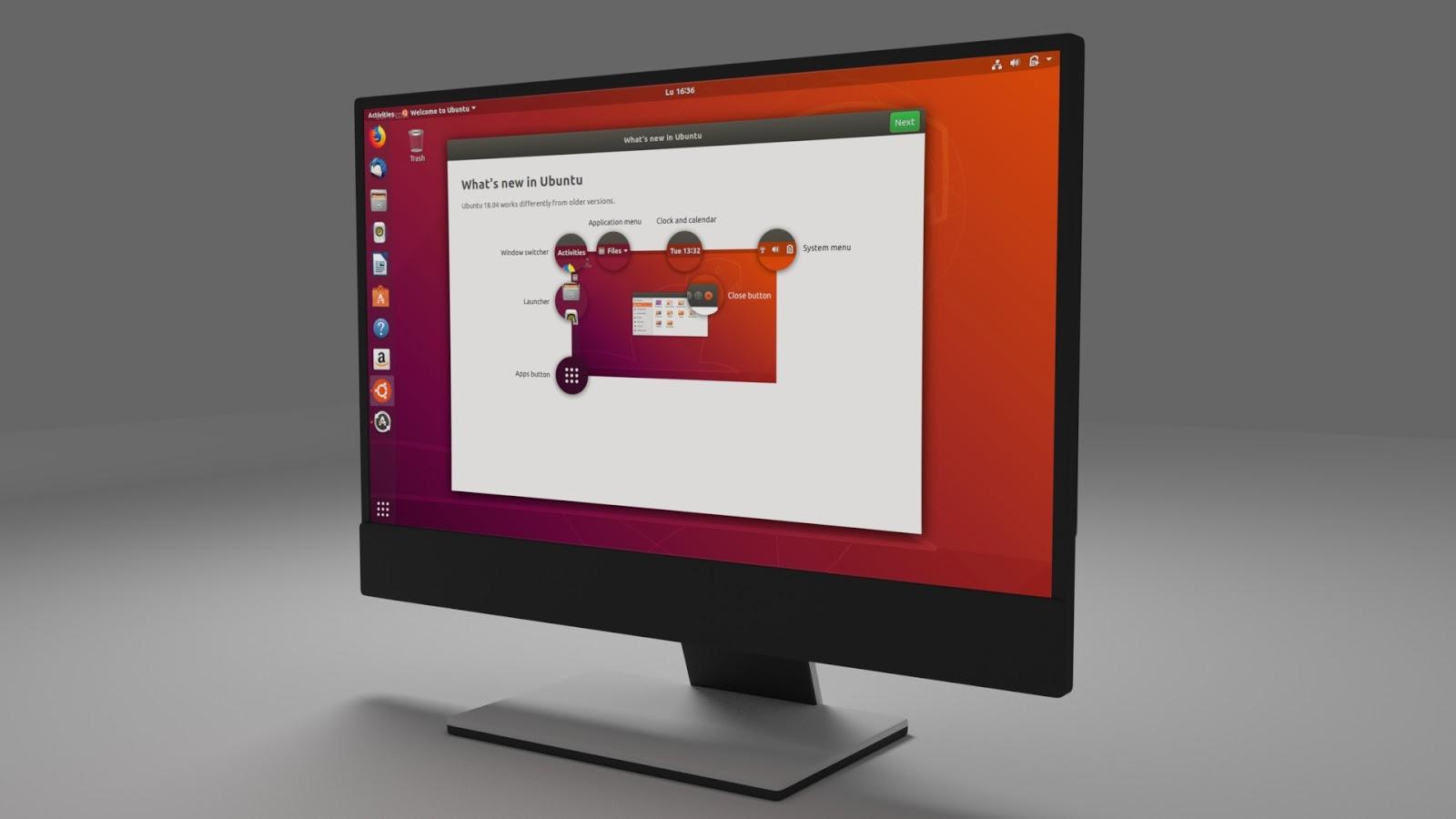 Free 3D Desktop Monitor .blend file