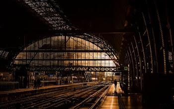 Wallpaper: Sunlight. Train. Station