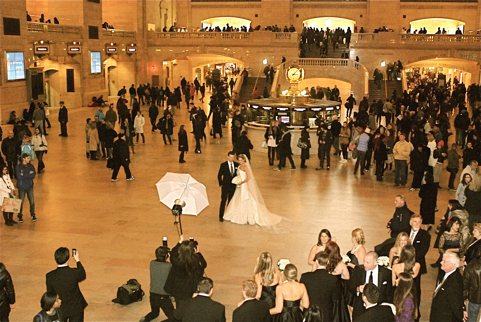 A Wedding Photoshoot Grand Central Terminal