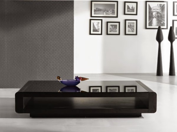 Modern Black Coffee Table With Simple Design