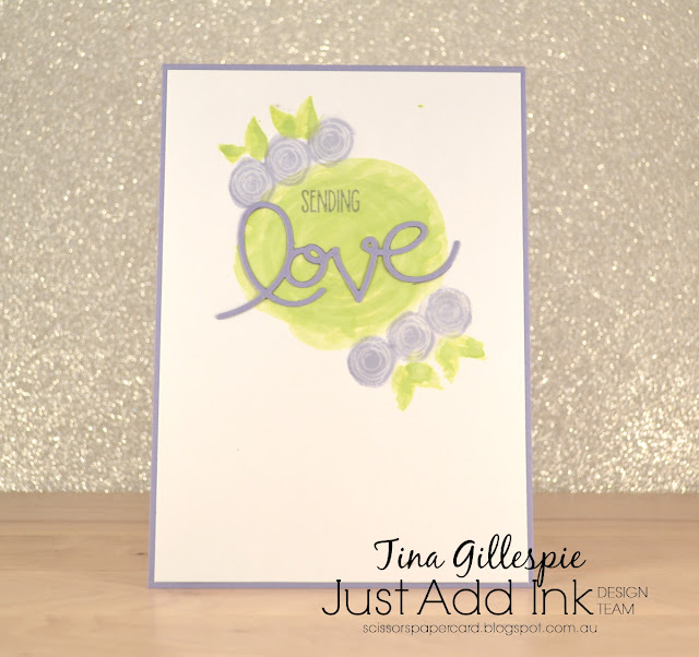 scissorspapercard, Stampin' Up!, Just Add Ink, Swirly Bird, Sunshine Sayings, Glossy Cardstock, Expressions Thinlits