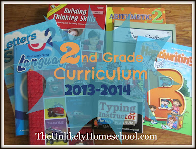 2nd Grade Homeschool Curriculum 2013-2014 The Unlikely Homeschool