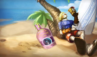 Surfer Singed Skin