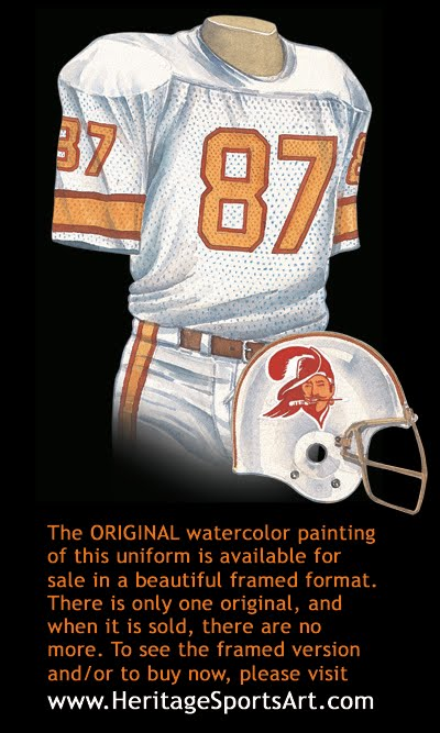 timeless design dd1d4 572fc Tampa Bay Buccaneers Uniform and Team History | Heritage ...