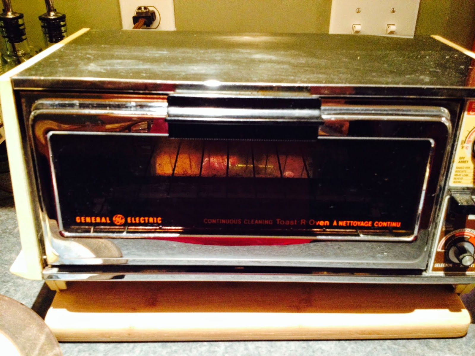 Self Cleaning Toaster ~ Rhubarb roses toaster oven bread