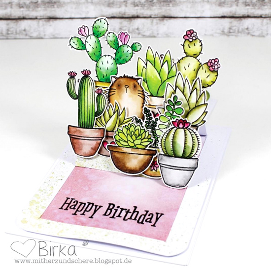 Birdie Brown Cool Cat and Laina Lamb Design Sweet Succulents stamp sets and Die-namics - Birka Reintiz #mftstamps