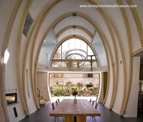 Interior de la casa orgánica inglesa
