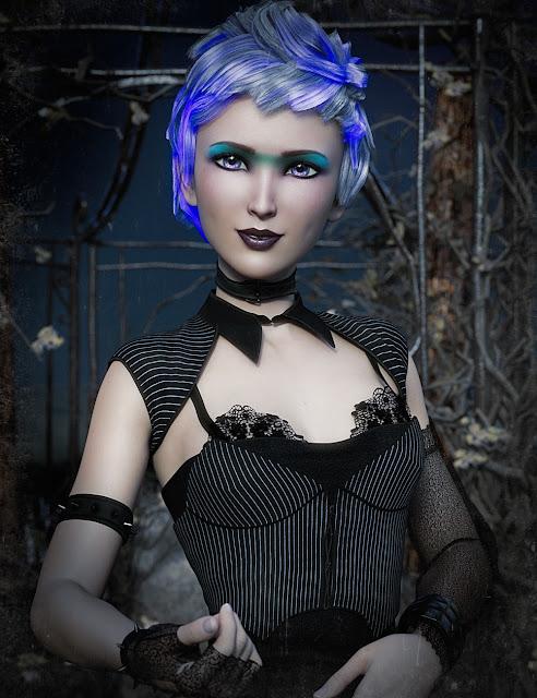 GlowFi Hair Big Color Pack for Genesis 3