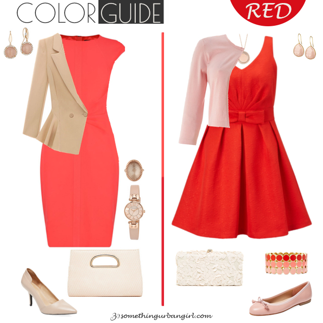 Pretty red dresses for Light Spring seasonal color women by 30somethingurbangirl.com