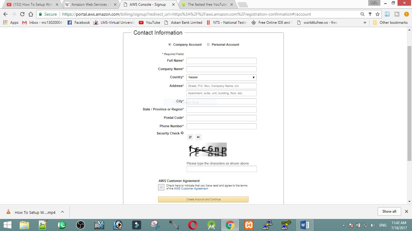 What Is Aws And How To Make A Aws Amazon Free Account Step By