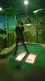 Staring into the abyss at Paradise Island Adventure Golf in Cheshire Oaks
