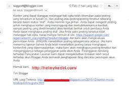 Mengatasi notifikasi blogger takedown DMCA