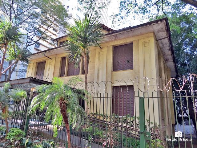 Vista ampla da Antiga Residência da Família Fernando Nobre - Higienópolis - São Paulo