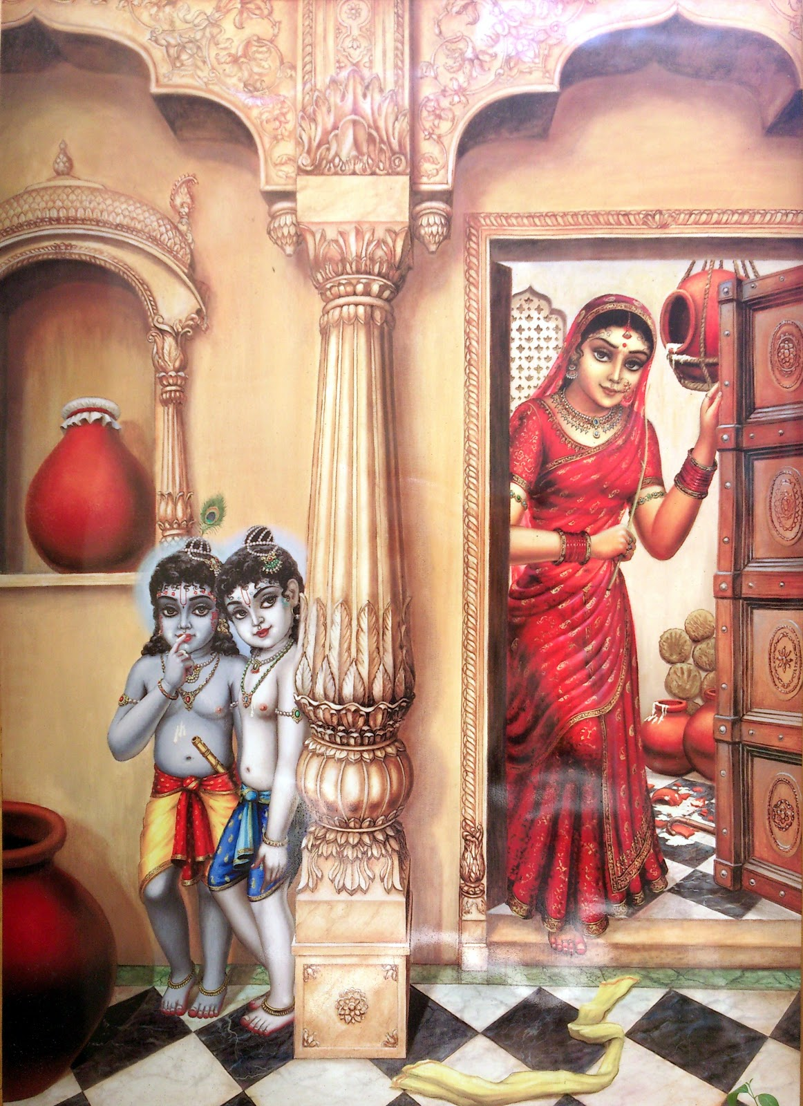 Krishna Balram Hiding From Yashoda - Top 10 Lord Krishna Images