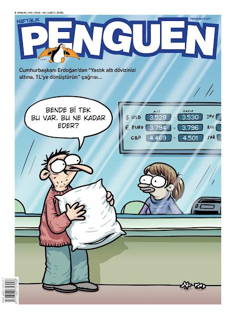Penguen Dergisi | 8 Aralık 2016 Kapak Karikatürü
