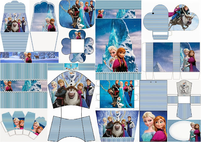 Cute Free Printable Frozen Kit.